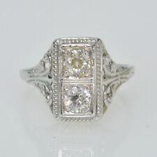 Diamond Filigree Estate Ring J248014 Ladies 18K White Gold Antique