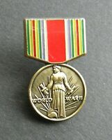 WWII WORLD WAR 2 MINI MEDAL LAPEL PIN BADGE 3/4 x 1.25 INCHES 1939-1945