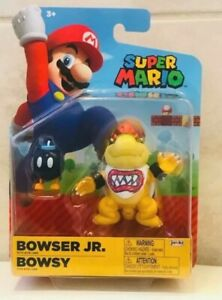 "World of Nintendo Super Mario Bowser Jr. 4"" Action Figure NISP"