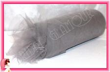 SILVER Soft Wedding Tulle Roll 15cm x 23m - Bridal Material Chair Sash Pew Bow
