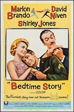 BEDTIME STORY MOVIE POSTER Orig. 1964 Folded 27x41 MARLON BRANDO SHIRLEY JONES