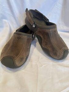 ❤️Crocs Brown Suede Leather Bogota Clogs Slip On Comfort Shoes Men's Size 7 Used