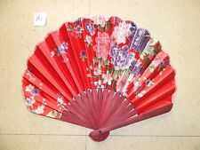 Chinese Bamboo Folding Silk HAND FAN with Flower Wedding Party Gift
