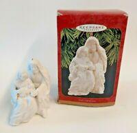 Hallmark Keepsake Ornament Gods Gift Of Love Nativity Porcelain Bisque Christmas