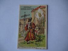 CHROMO PUBLICITAIRE CHOCOLAT GUERIN-BOUTRON N°420 HENRI III CORNETTE DUC MOUY
