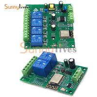 ESP8266 WIFI 4 Channels Relay Module  ESP-12F Dual Channel 5V  Development Board
