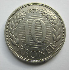 Dinamarca - 10 CORONAS - 1979