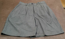 Women's Black/White Houndstooth Shorts. Pleated with front/pockets. Size 8.