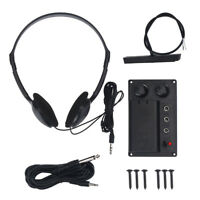 Black Electric Violin Accessory EQ Pickup Piezo W/Headphone Plug Replacement Set