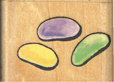JELLY BEANS - RUBBER STAMPEDE JELLY BEANS WOOD MOUNTED RUBBER STAMP