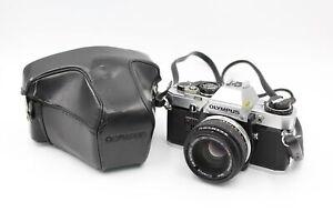 Olympus OM10 SLR FILM CAMERA w/ Olympus OM-System 50mm F/1.8 Lens & Case WORKING