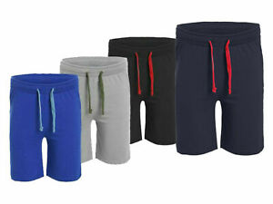 New Men's Plain  Jersey Sports Shorts UK S - 5XL