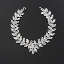 Silver Rhinestone Diamante Crystal Sew on Chain Applique Motif Wedding Trim B200