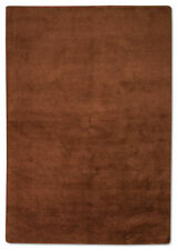 Tapis marron pour la maison en 100% laine, taille 170 cm x 240 cm