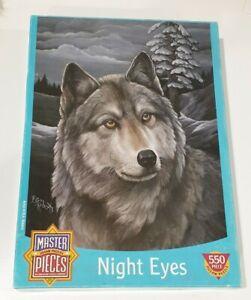 MasterPieces Night Eyes 010028-5 Wolf 550 Piece Puzzle