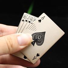 Windproof Metal Lighter Jet Torch Cigar Poker Butane Cigarette Cards Men Toy
