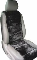LUXURIOUS Australian Sheepskin  black color Insert Seat Cover A Pair