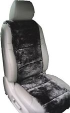 LUXURIOUS Australian Sheepskin  black color Insert Seat Cover A Pair