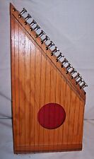 VINTAGE 16 INCH  15 STRING WEDGE SHAPED Bowed Psaltry Lap Harp Dulcimer