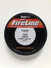 Berkley FireLine Crystal/the BeadSmith Braided Line 10 lb Test 125 Yds Old Stock