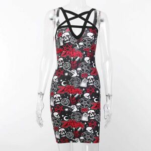 Rob Zombie Dress, Pentagram, Gothic, Wicca, Magick, Clubwear, UK Stock, BNWT