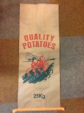 More details for 9 x 3ply new paper potato & veg potatoes sacks bags 25kg misprint