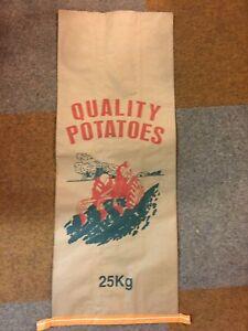 9 x 3ply New Paper Potato & Veg Potatoes Sacks Bags 25kg Misprint