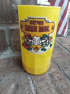 1988 SUPER MARIO BROTHERS Plastic Mug - MARIO & LUIGI