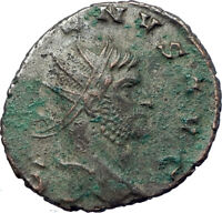 GALLIENUS son of Valerian I 258AD Ancient Roman Coin SALUS Health i73467
