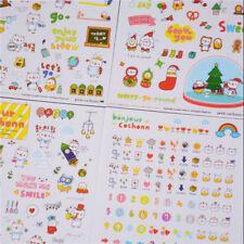 6Sheet Lovely Pig Transparent Calendar Diary Book Stickers Scrapbook Decor  Jw