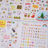 6Sheet Lovely Pig Transparent Calendar Diary Book Stickers Scrapbook Decor ATAU
