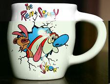 "1992 REN & STIMPY SHOW ""SMASHED"" MUG CUP DAKIN NICKELODEON"