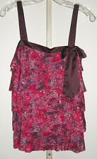 Ann Taylor Loft Watercolor Tiered Layered Cami Knit Top S NWT