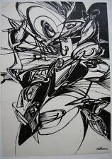 Helmut Sturm (1932-2008) abstrakte Komposition Orig. Serigrafie 1968 SPUR sign
