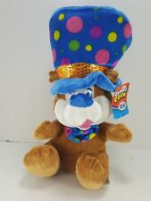 """Happy Birthday Brown Bear Blue Party Hat and Tie Stuffed Animal Soft Plush 10"""""""