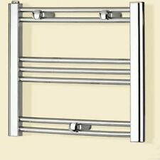 Prefilled ELECTRIC Chrome Heated Towel Rail Radiator Small Flat Bathroom 150W