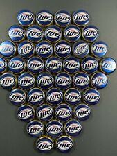 100 Miller Light Beer Bottle Caps Blue Retired No dents metal crafts