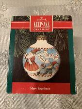Hallmark Keepsake Ornament 1991 Mary Engelbreit Christmas Glass Lnib!