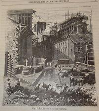 Industria Artigianato, Figuier: La Tintura Cuoi e Pelli 1883 Treves incisioni