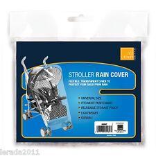 EMERGENCY STROLLER RAIN COVER UNIVERSAL SIZE LIGHTWEIGHT DURABLE PRAM PUSHCHAIR