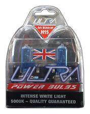 Ultra H15 12v 15/55w 5000K Xenon Power Bulbs