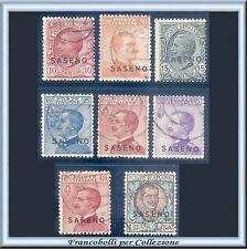 1923 Colonie Italiane Saseno Serie completa n. 1/8 Usati