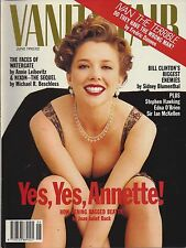 VANITY FAIR JUNE 1992 ANNETTE BENING COVER