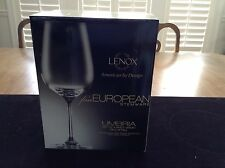 "Lenox Fine European Stemware Set Of (4) 16 oz Wine Glasses  ""New"""