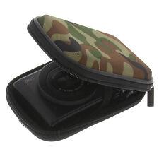 Funda para Canon Powershot S110 Cámara Estuche Rígido Protectora Camuflaje Verde
