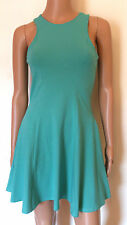 NEW RIVER ISLAND BLACK GREEN CORAL RACER SKATER DRESS  UK 8 10 12 14 **BARGAIN**