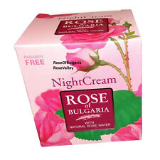 Moisturising Night cream ROSE OF BULGARIA 50ml With Natural Rose Oil,Almond Oil