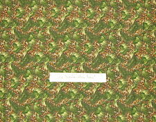 Christmas Fabric Pine Cone Evergreen Needle - Quilting Treasures QT Cotton YARDS