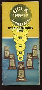 1969/1970 NCAA Basketball UCLA Bruins Media Guide VG+