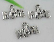 "New 50pcs Tibetan Silver Letter ""HOPE"" Charms Pendants 13x9mm  (Lead-free)"